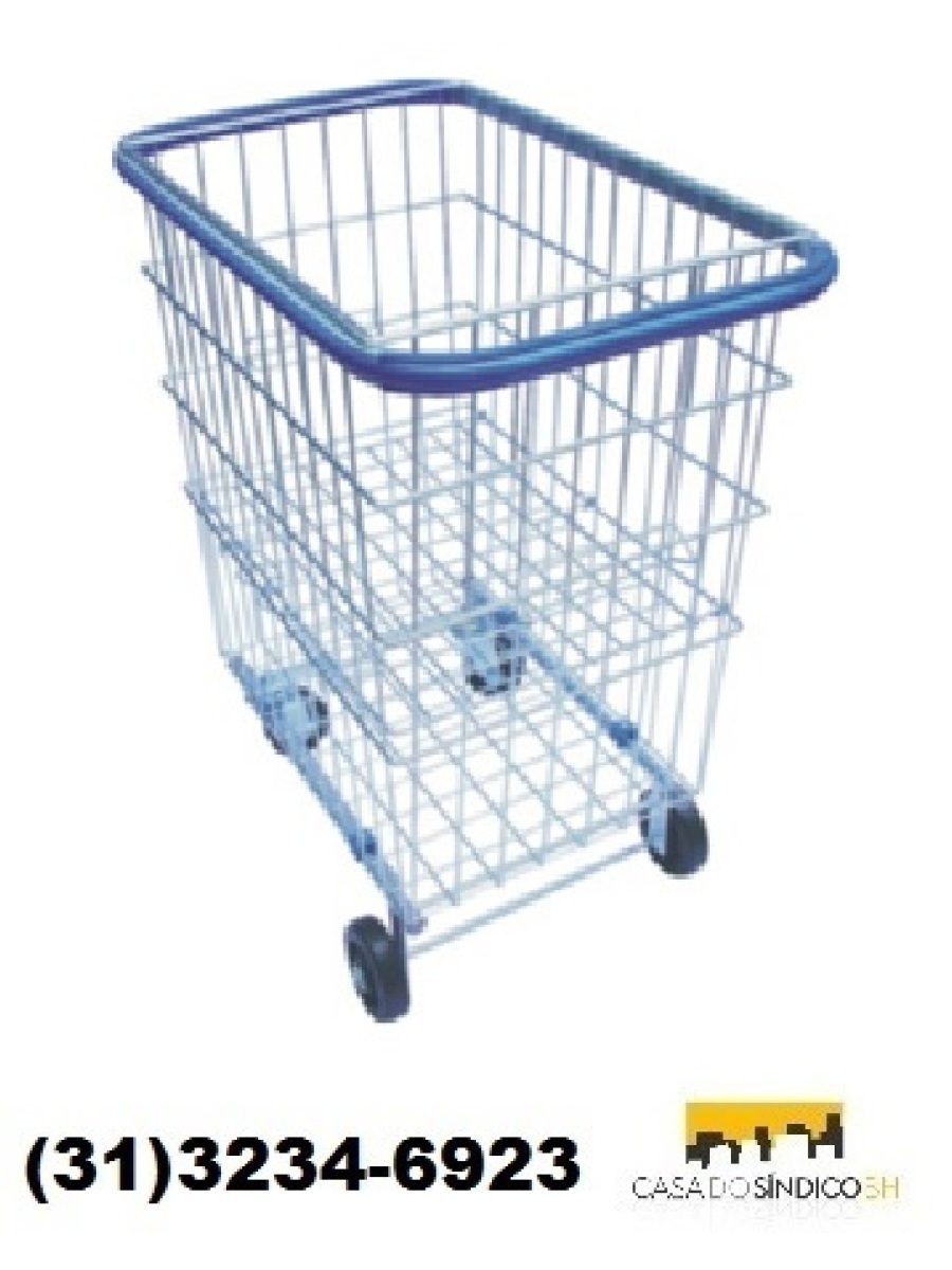 Carrinho de compras para condomínio 200 litros