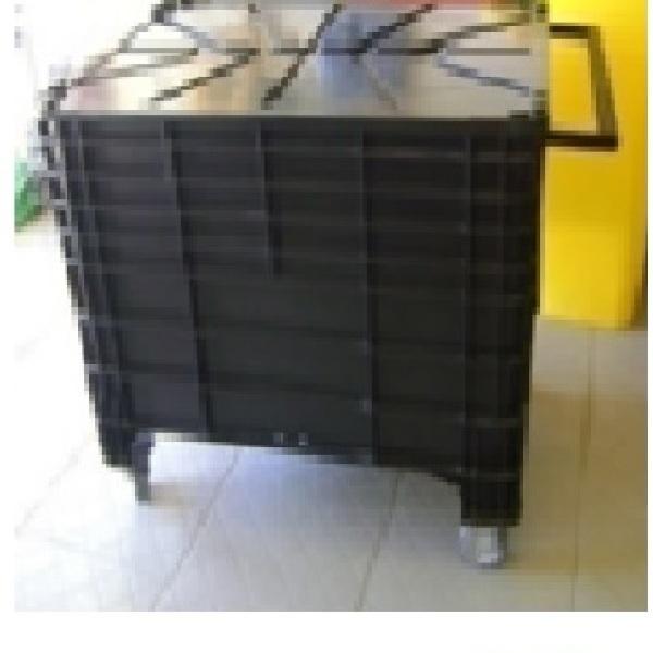 Carrinho para lixo 370 litros