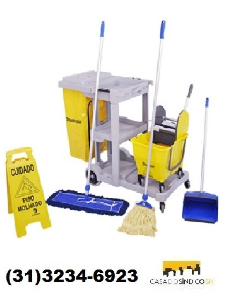 Carrinho funcional para limpeza 3 completo