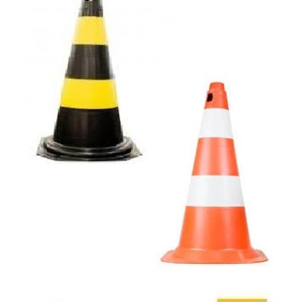 Cone de sinalização 50 ou 75 cm