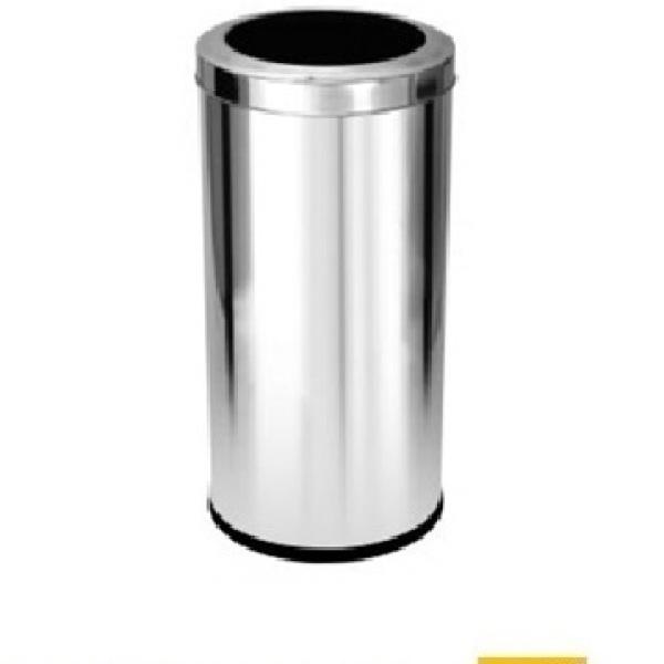 Lixeira aço inox 22 litros com aro