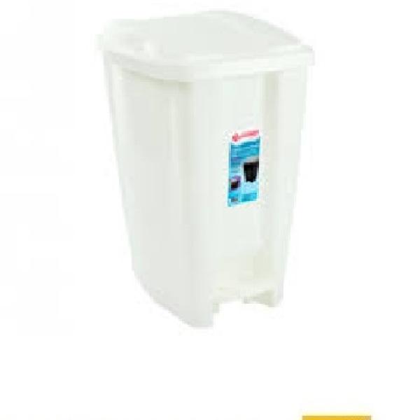 Lixeira plástica com tampa e pedal 20 litros
