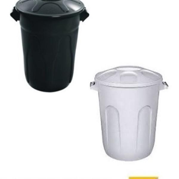 Lixeira plástica com tampa 100 litros