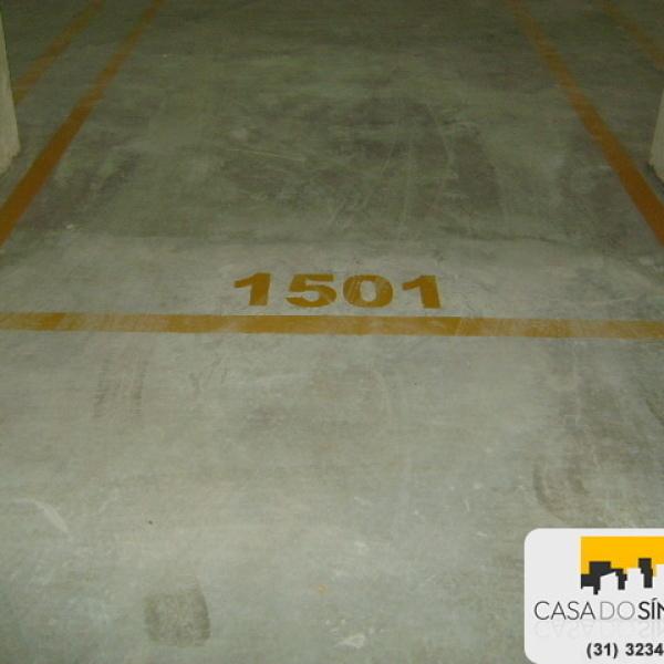Pintura de numeração de vagas de garagem